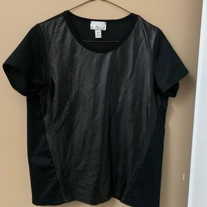 Abria - Leather Short Sleeve